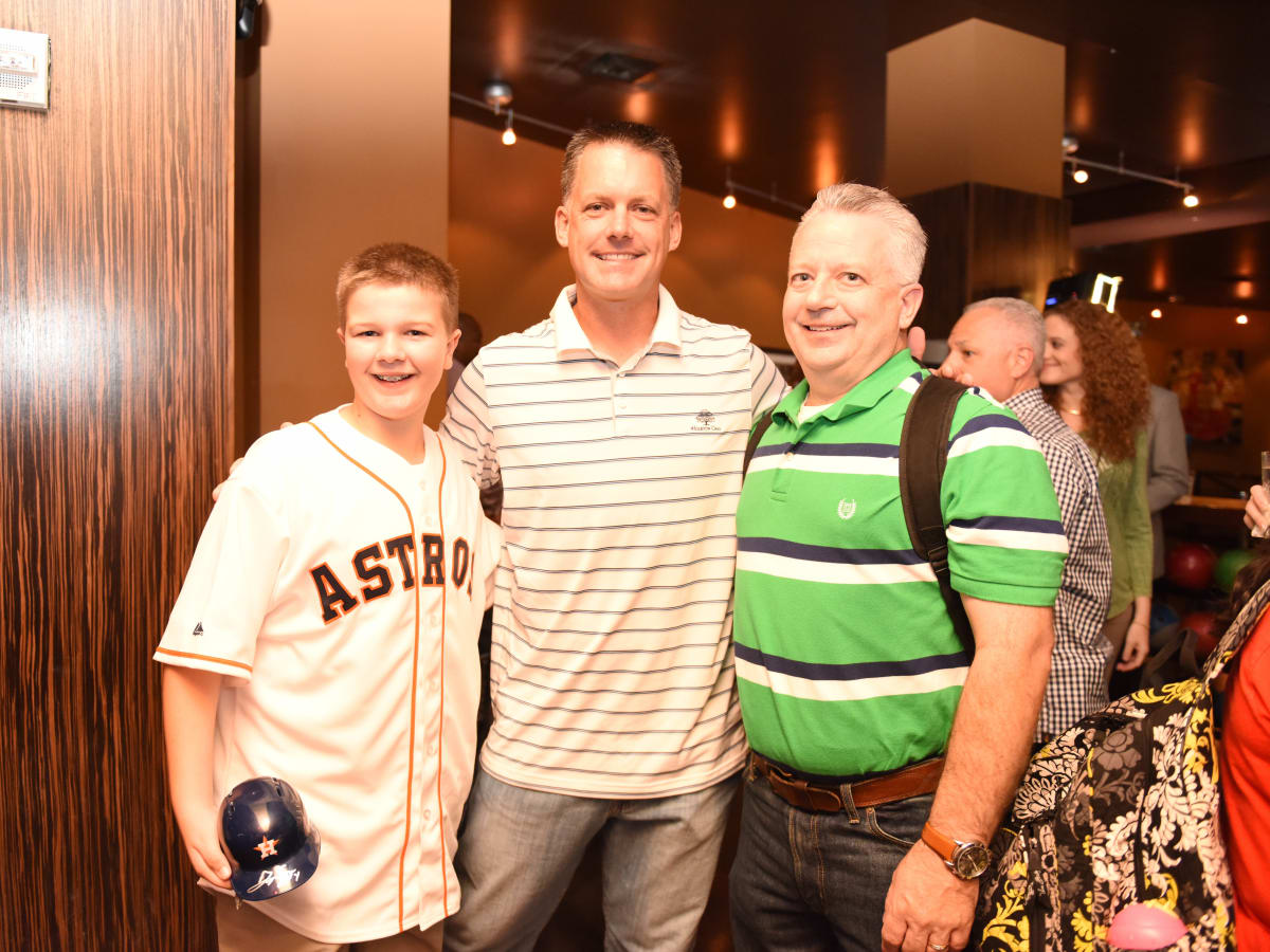 News, Shelby, George Springer's bowling fundraiser, July 2015, Parker Wright, A.J. Hinch, Doug Wright