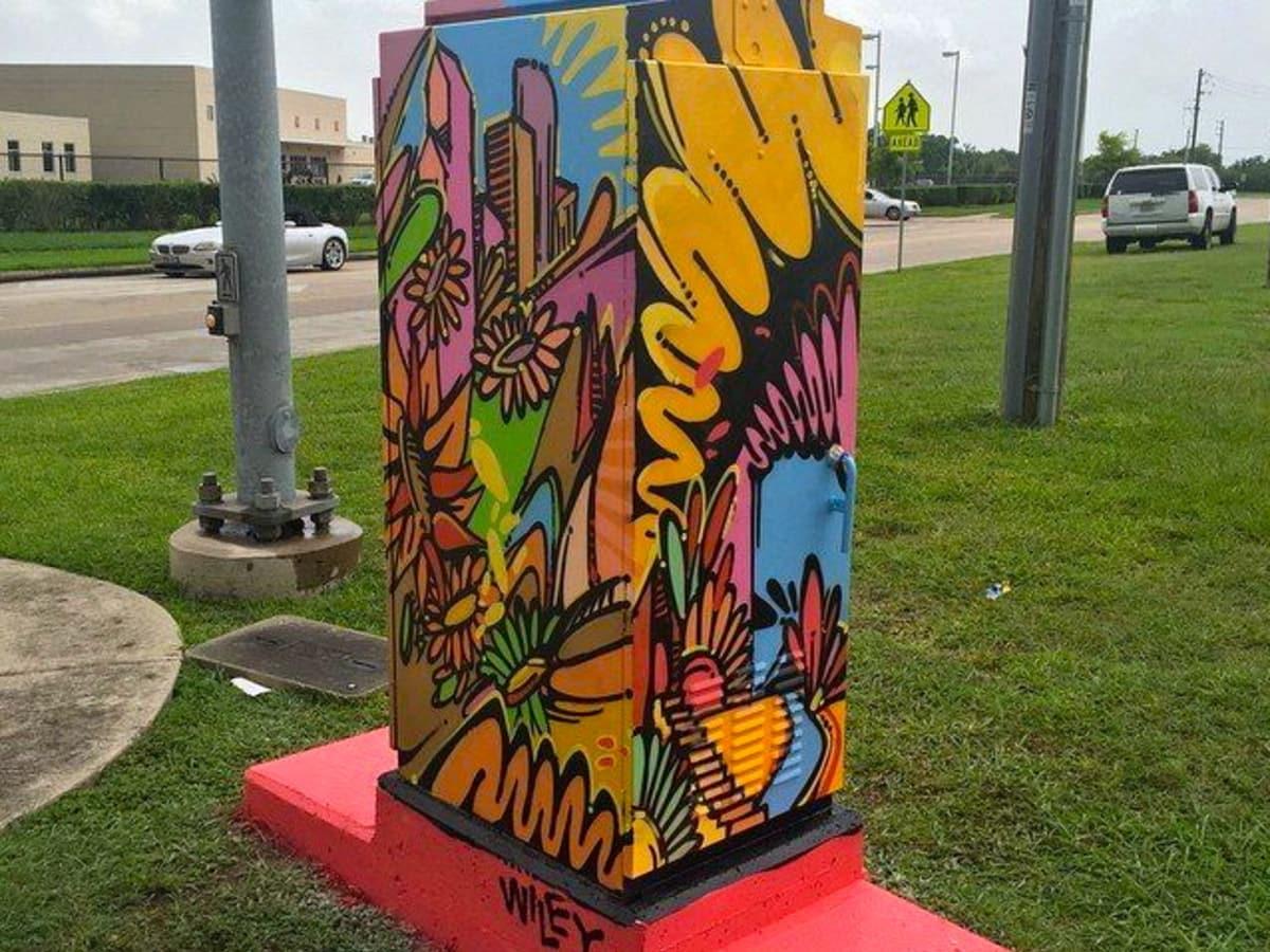 Houston, Mini Murals, July 2015, Wiley Robertson
