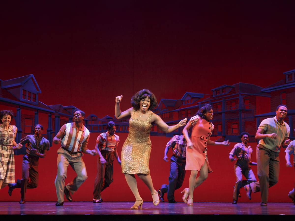 Patrice Covington as Martha Reeves in Motown the Musical
