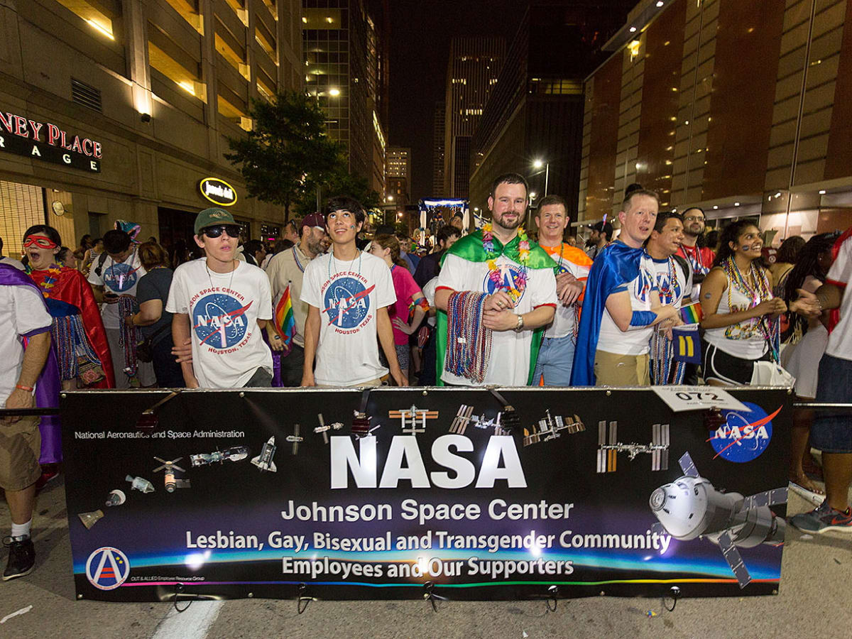 Houston Pride 2015 NASA LGBT supporters