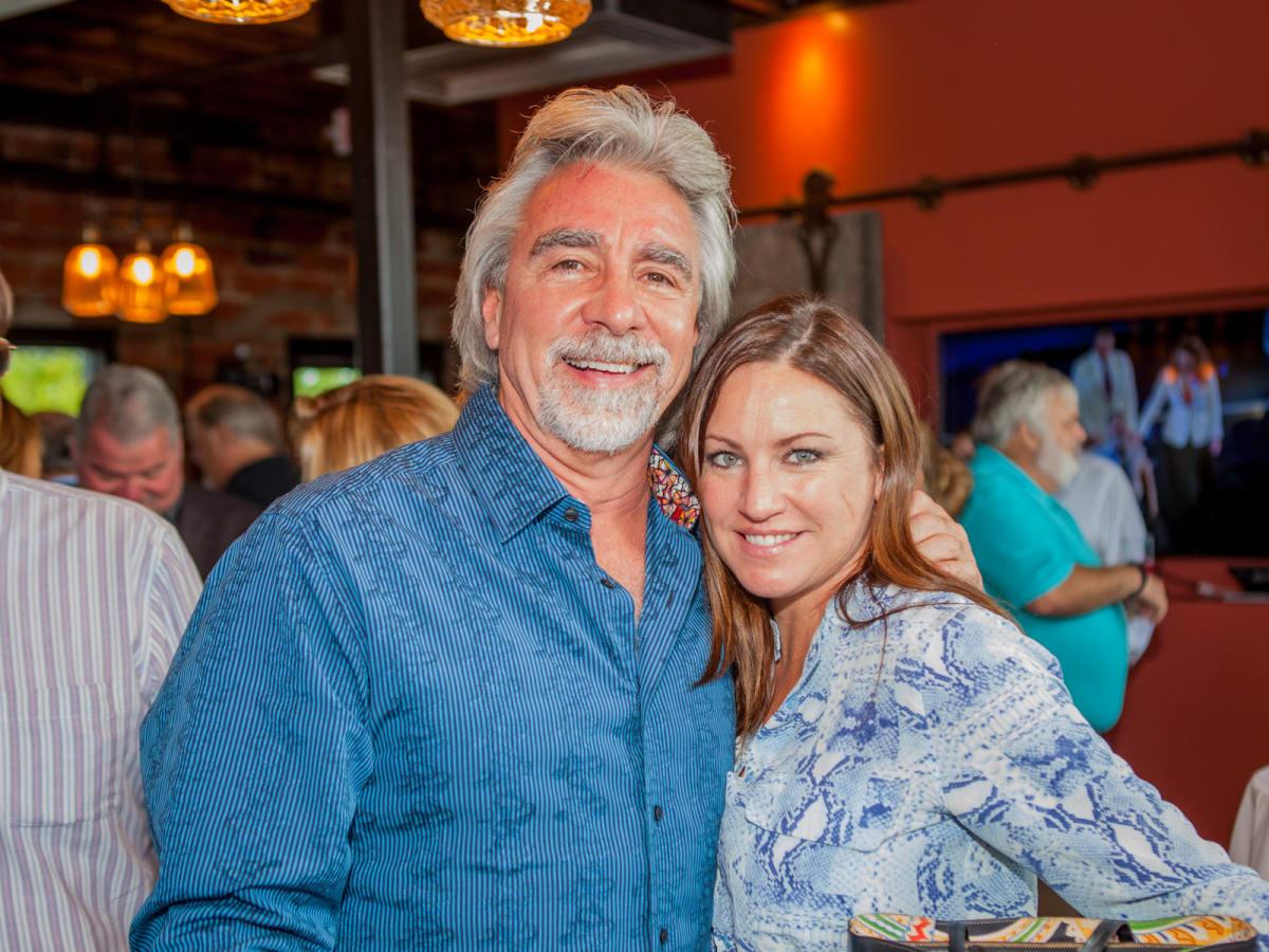 Houston, Pastorini party, June 2015, Jamie Adams, Karina Adams