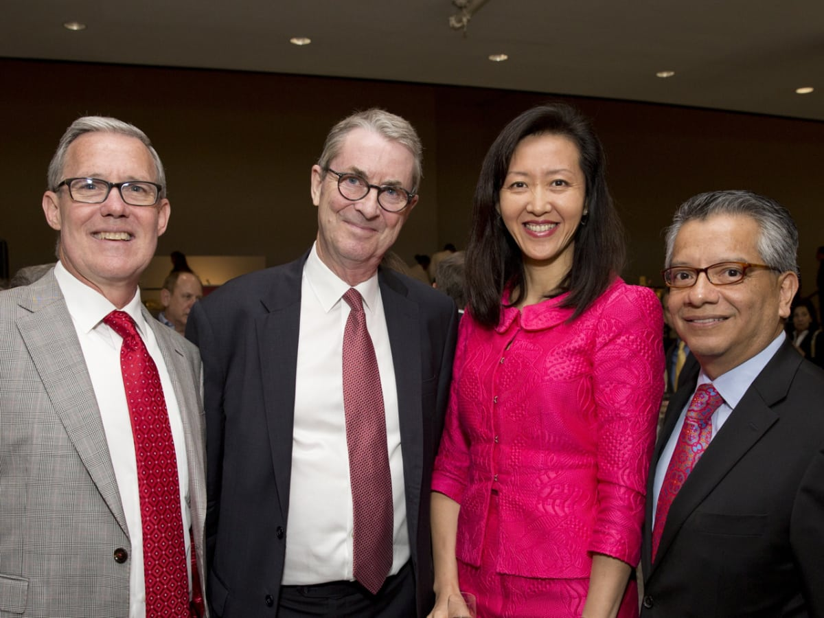 MFAH Habsburg Splendor dinner Dorion Ogle; David Bomford; Hong Ogle; David Ruiz