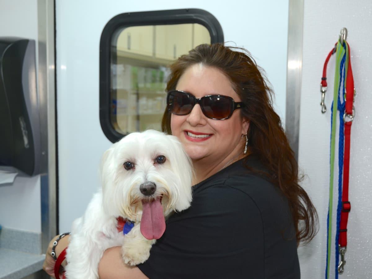 Emancipet Houston grand opening Sonia Soto with Jesse