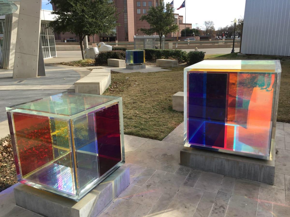 Synchronicity light receptors sculpture by Margo Sawyer