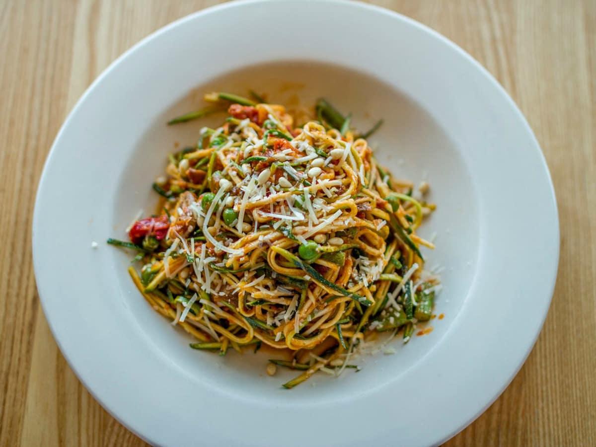 Napa Flats zucchini pasta dish