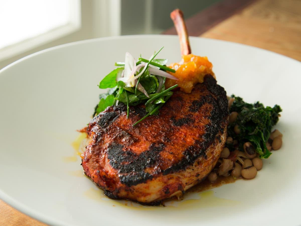 Stagecoach Inn Tomahawk pork chop