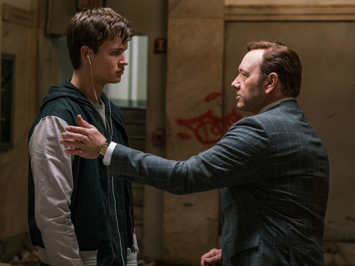 Ansel Elgort and Kevin Spacey in Baby Driver