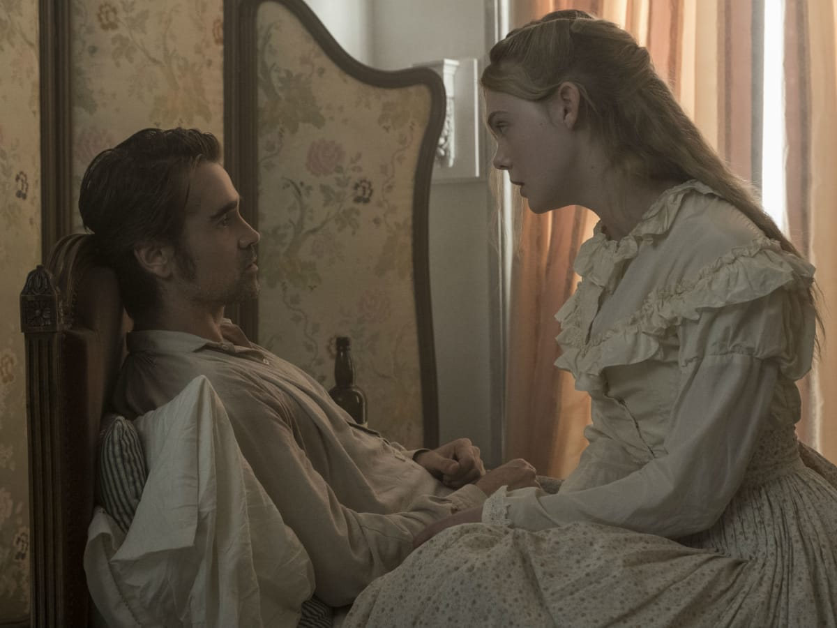 Colin Farrell and Elle Fanning in The Beguiled
