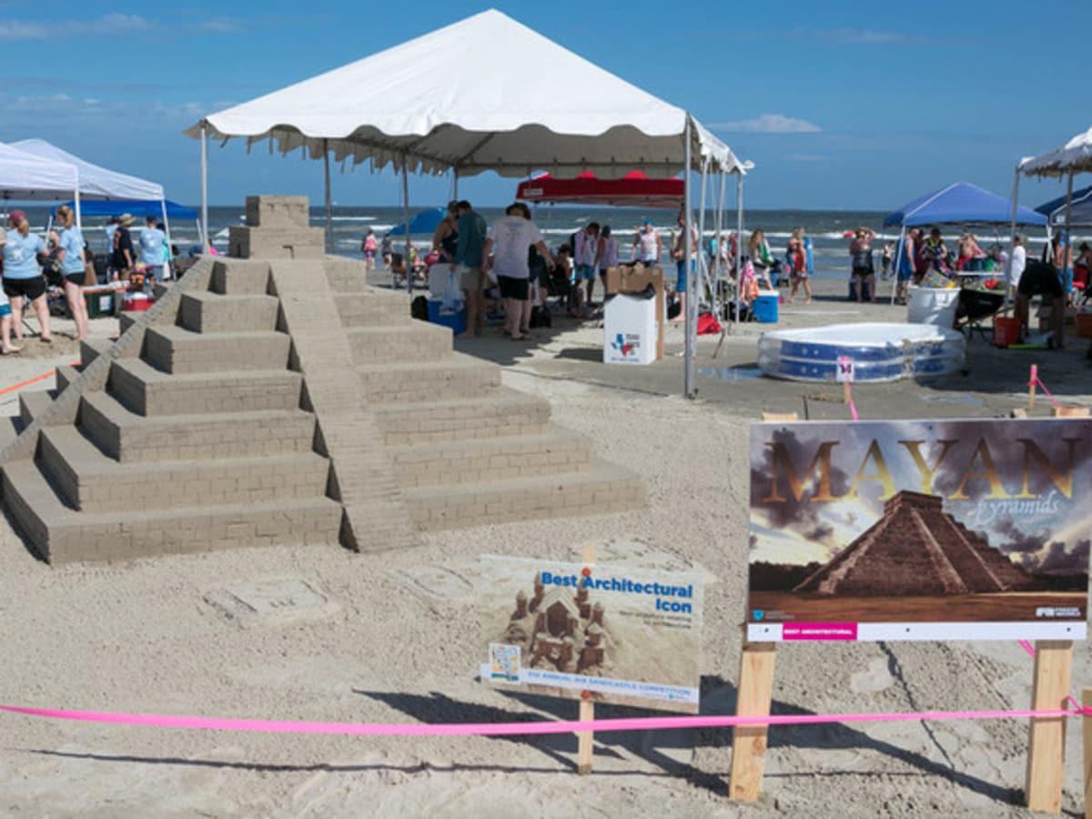 Houston, Houzz series, June 2017, Sandcastle contest, Mayan Pyramid