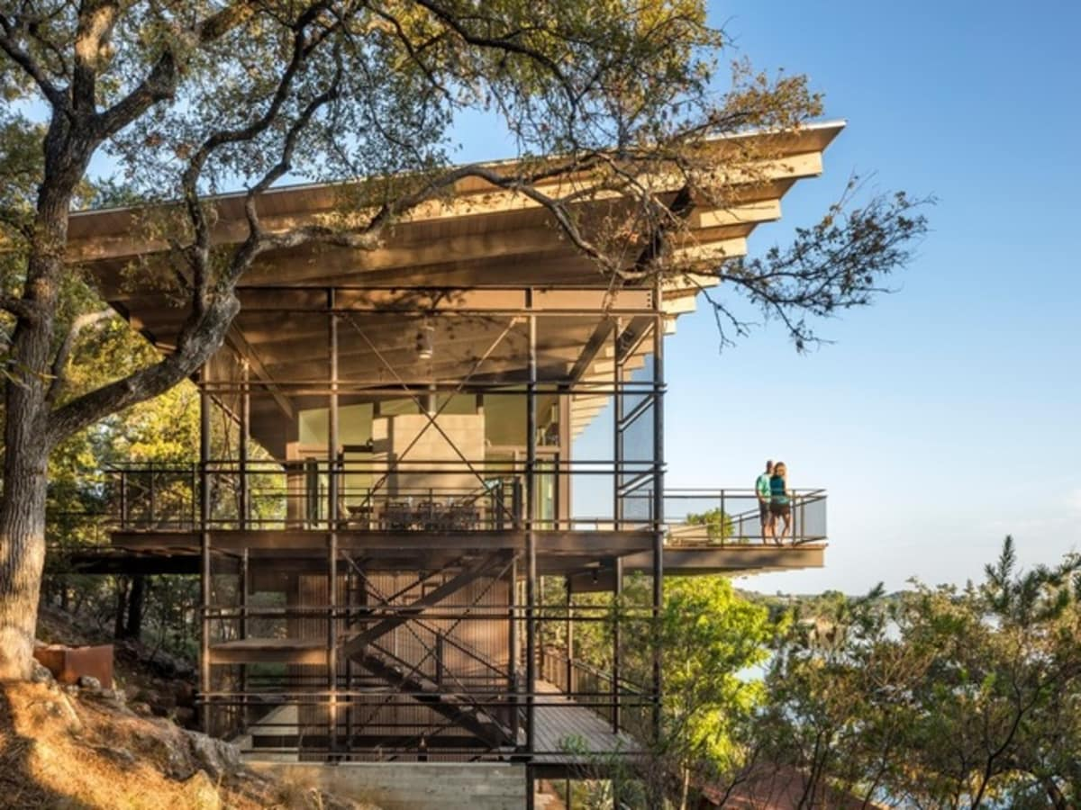 Houzz Austin home house fire tower Lake Flato architect