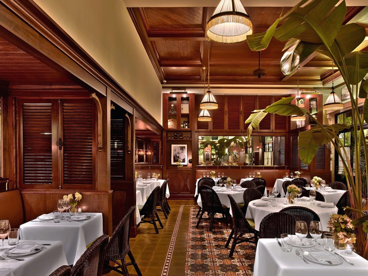 Le Colonial Houston dining room