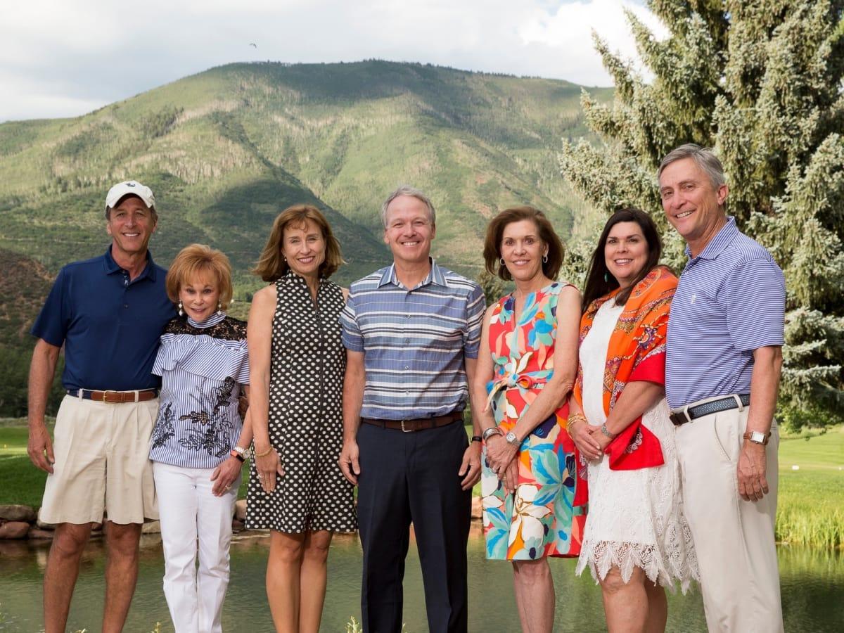 Houston Methodist in Aspen, July 2017 Jack Dinerstein, Nancy Dinerstein, Dr. Julie Boom, Dr. Mark Boom, Cam Canion, Lesha Elsenbrook, Tom Elsenbrook