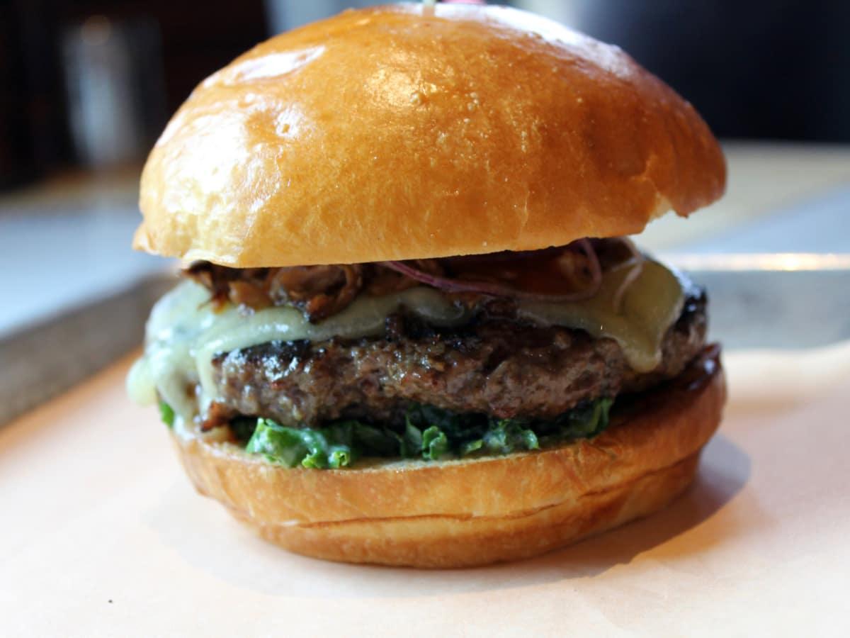 Fielding's Wood Grill brisket burger