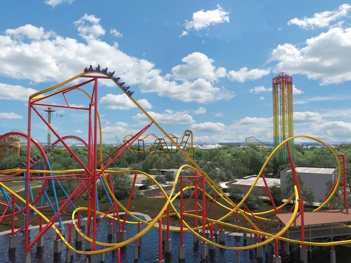 Six Flags Fiesta Texas Wonder Woman roller coaster