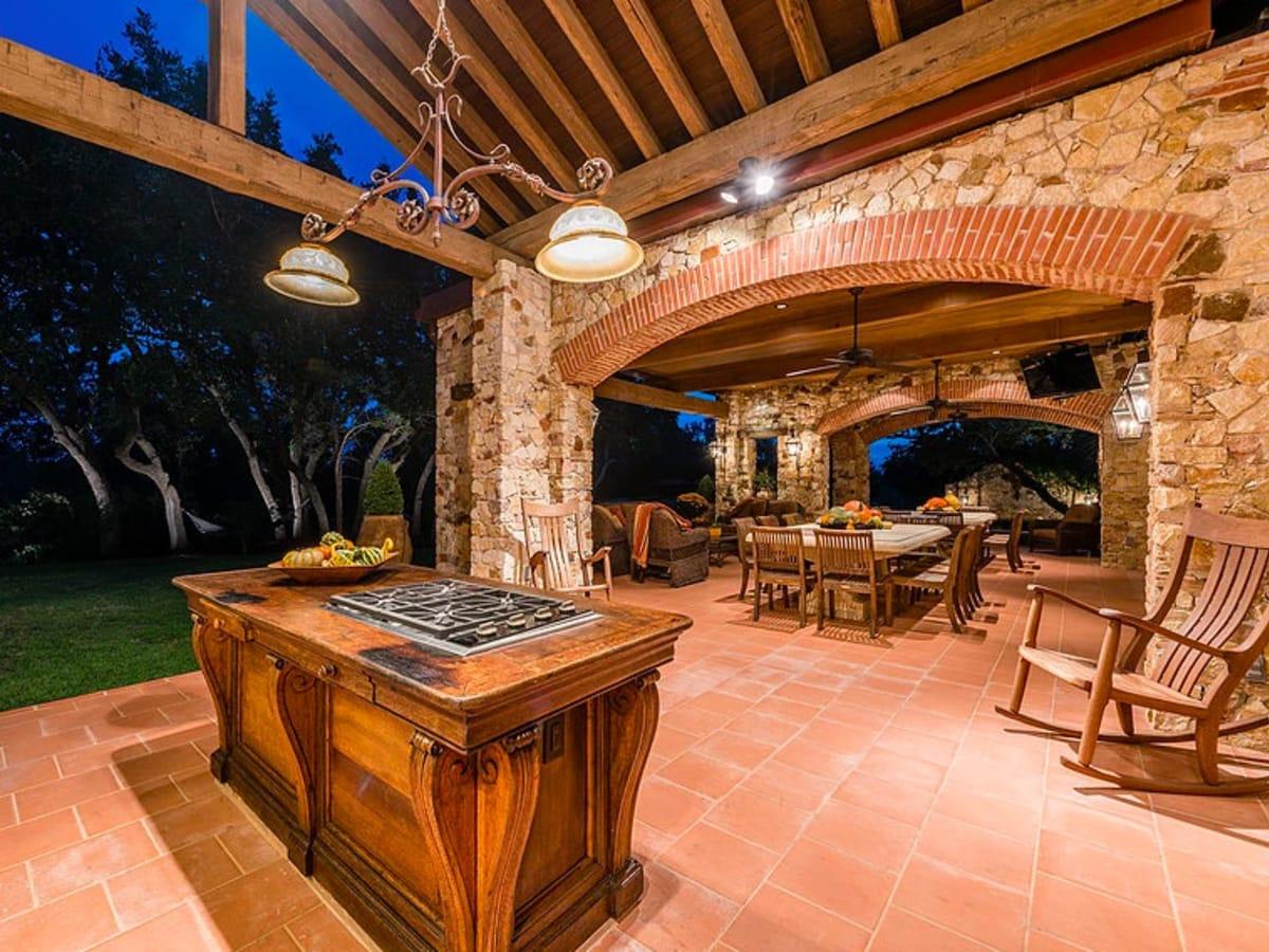 Mandola's estate in Austin outside kitchen