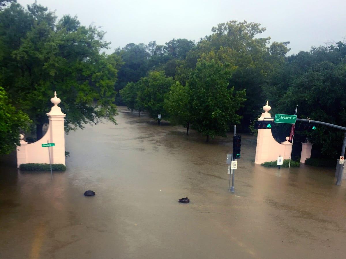 Houston, Hurricane Harvey, flood photos, Kirby at Shepherd