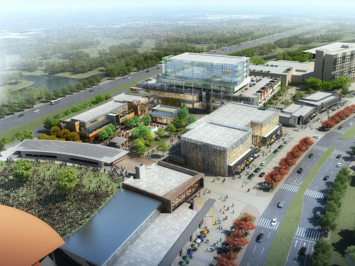 Rendering of Music Factory in Las Colinas
