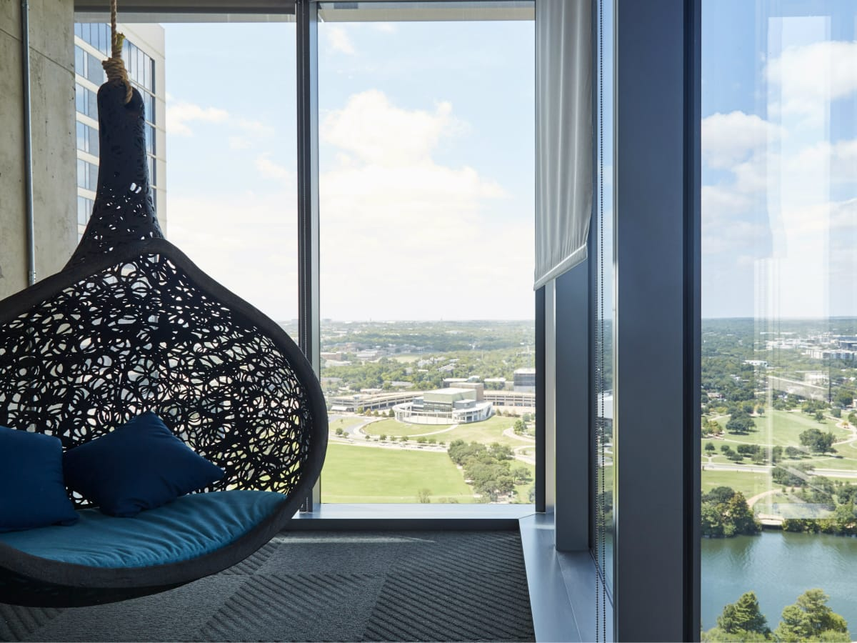 Google Austin office view from 26th floor