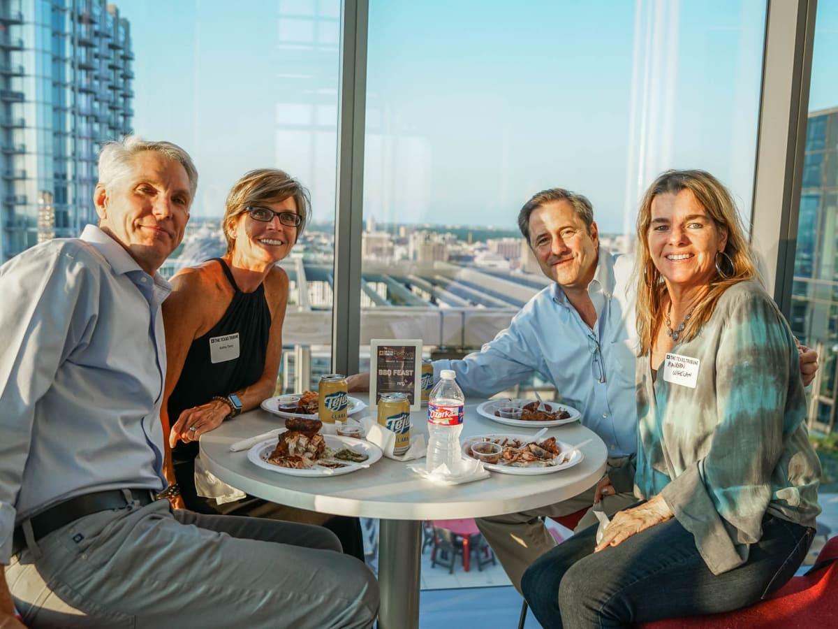Texas Tribune Festival 2017 BBQ Feast at Google Patrick Terry Kathy Terry Sam Johnson Maureen Whalen