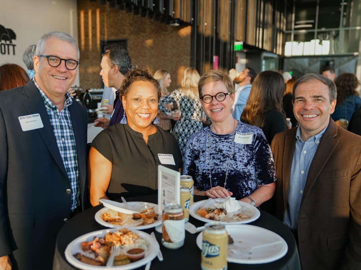 Texas Tribune Festival 2017 BBQ Feast at Google Ross Ramsey Karen Kennard Becky Brownlee R.B. Brenner
