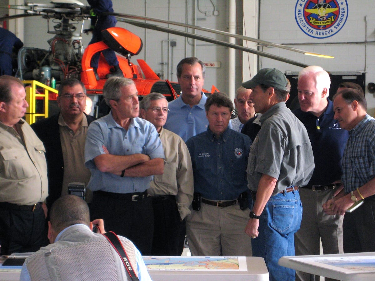 Houston news, Ed Emmett, George Bush after Hurricane Ike in 2008