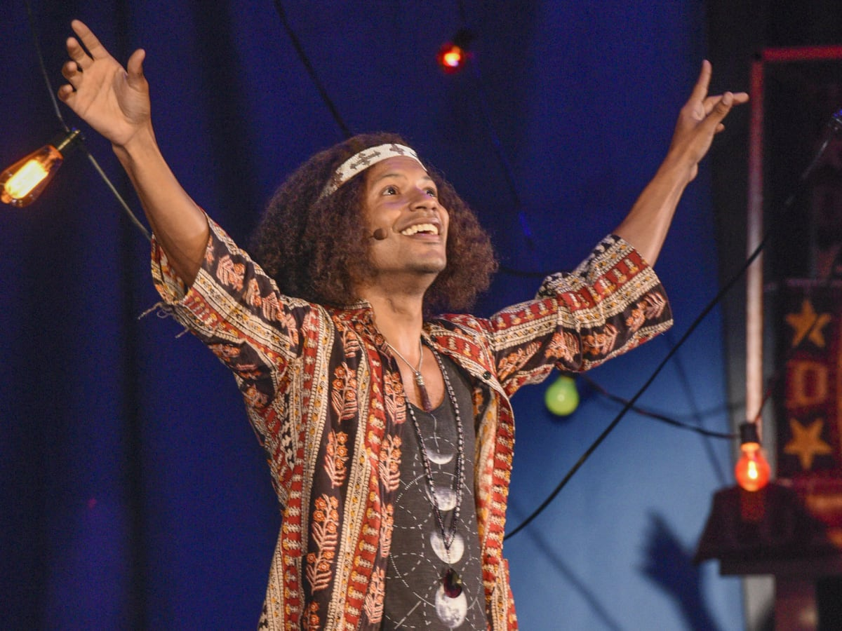 Jaime Cepero in Hair at Dallas Theater Center
