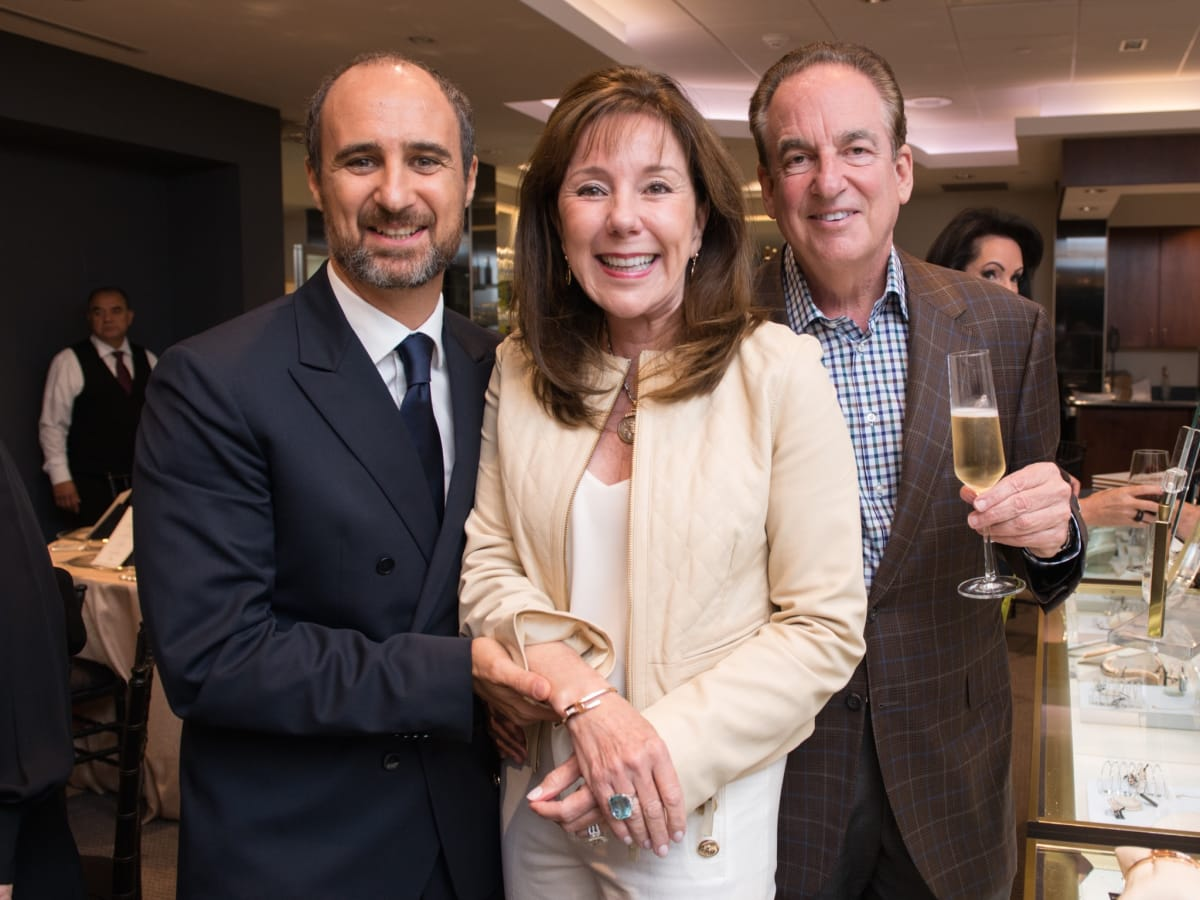 Mattia Cielo, Elizabeth and Alan Stein at IW Marks Jewelers