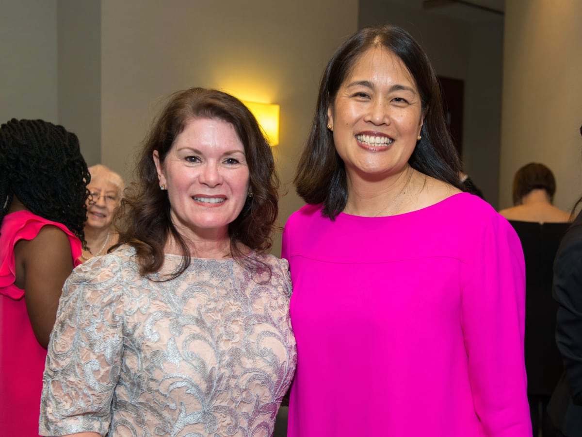 Christine Napier, Grace Kim at Memorial Hermann Razzle Dazzle luncheon