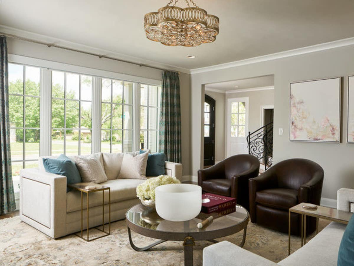Houzz luxury estate remodel Dallas living room