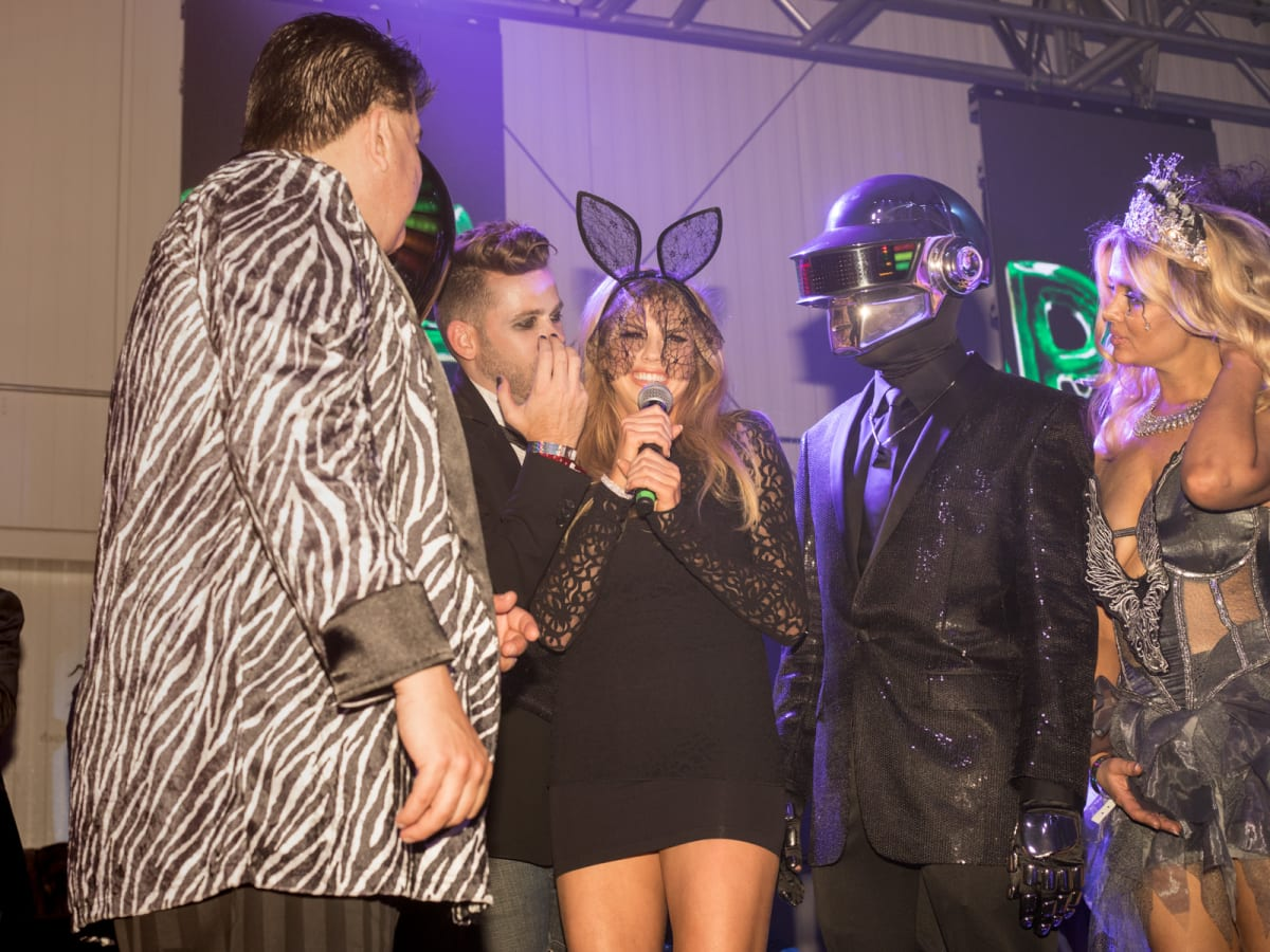 Vampires and Vixens Halloween Party Charlotte McKinney and judges