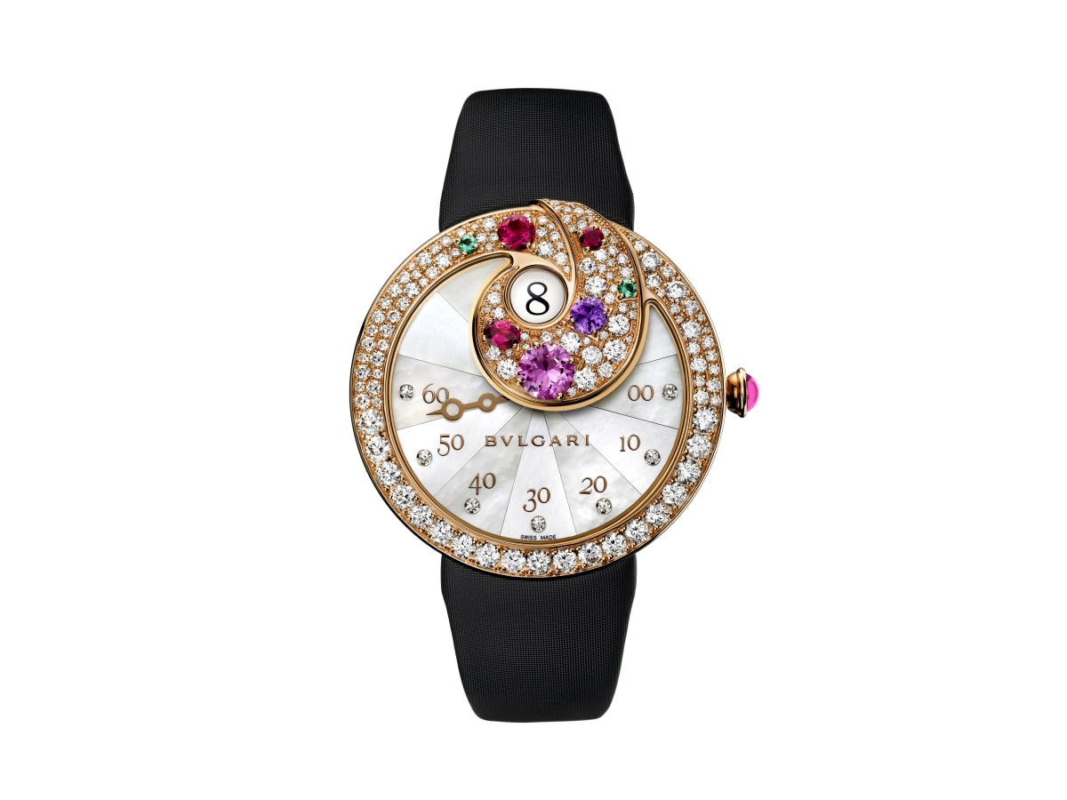 Bulgari Color of Time jumping hour and retrograe minutes watch at Zadok