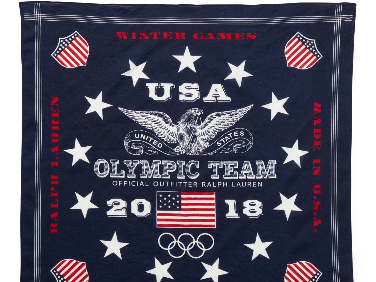Winter Olympics 2018 closing ceremony outfits Team USA Ralph Lauren bandana