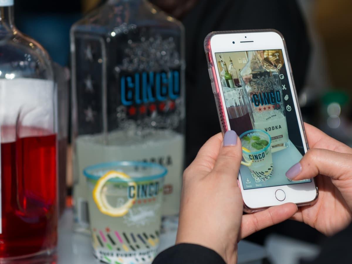 Houston, Founders Fest, November 2017, cocktail with Cinco Vodka