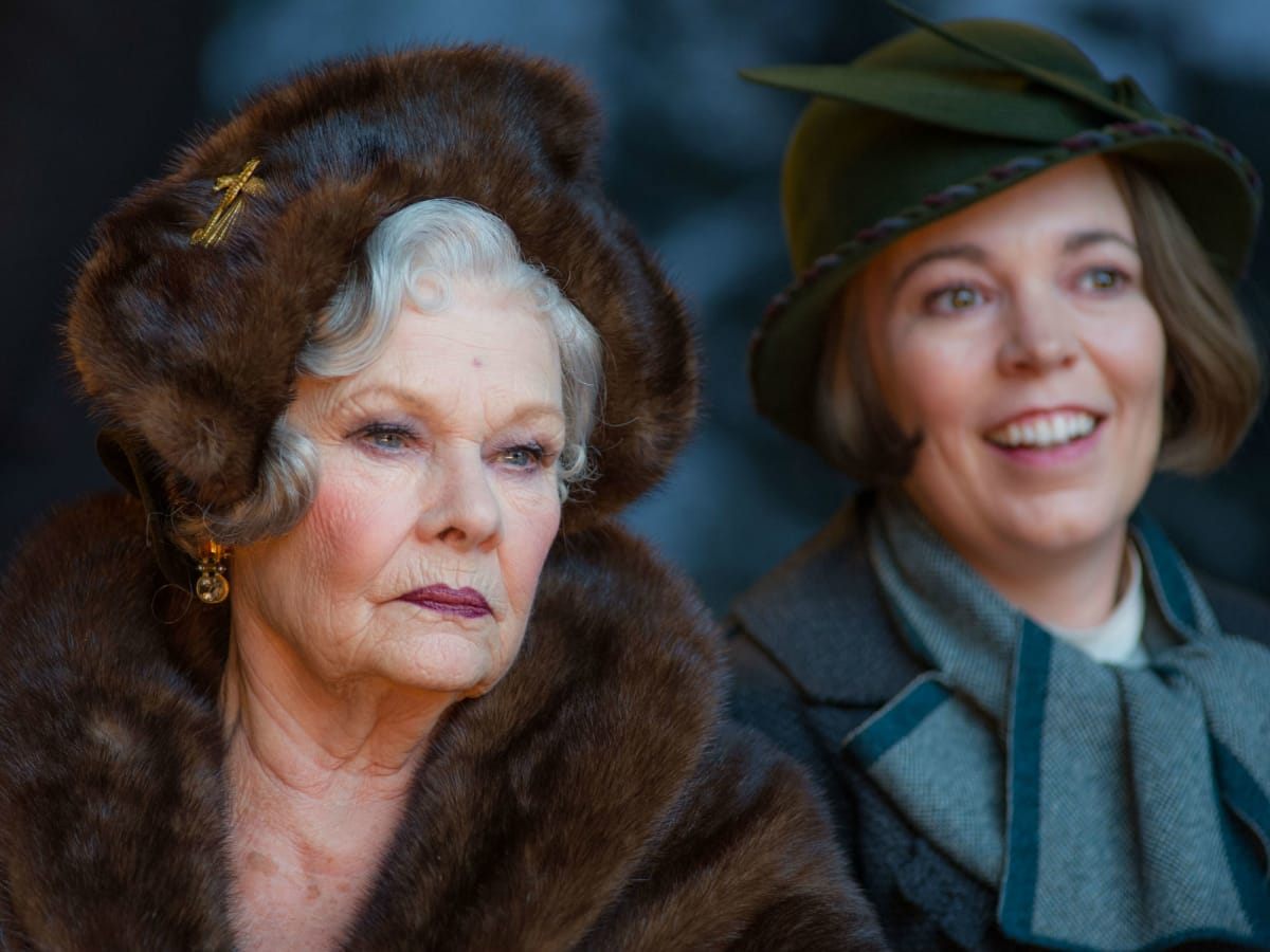 Judi Dench and Olivia Colman in Murder on the Orient Express