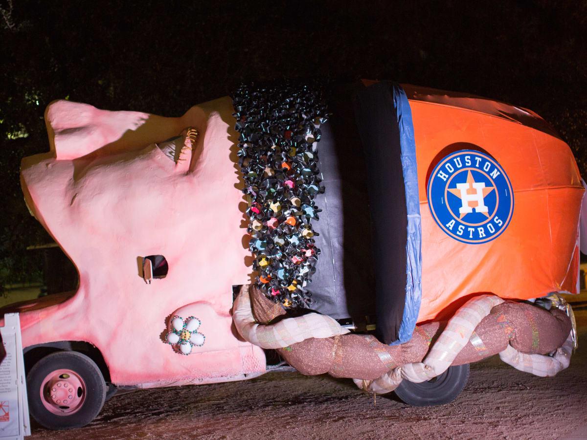 Houston, the Orange Show for Visionary Arts' Brünnehilde art car, November 2017
