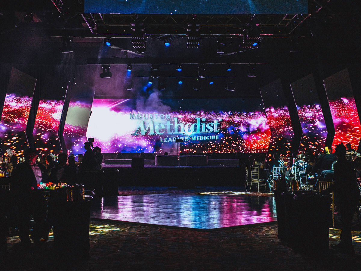 Houston, Methodist Hospital Rendezvous Live Young Gala, November 2017, light show finale