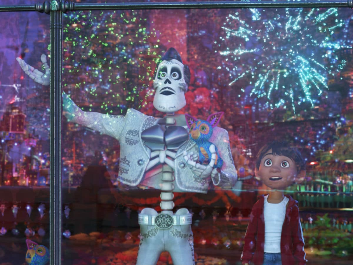 Benjamin Bratt and Anthony Gonzalez in Coco