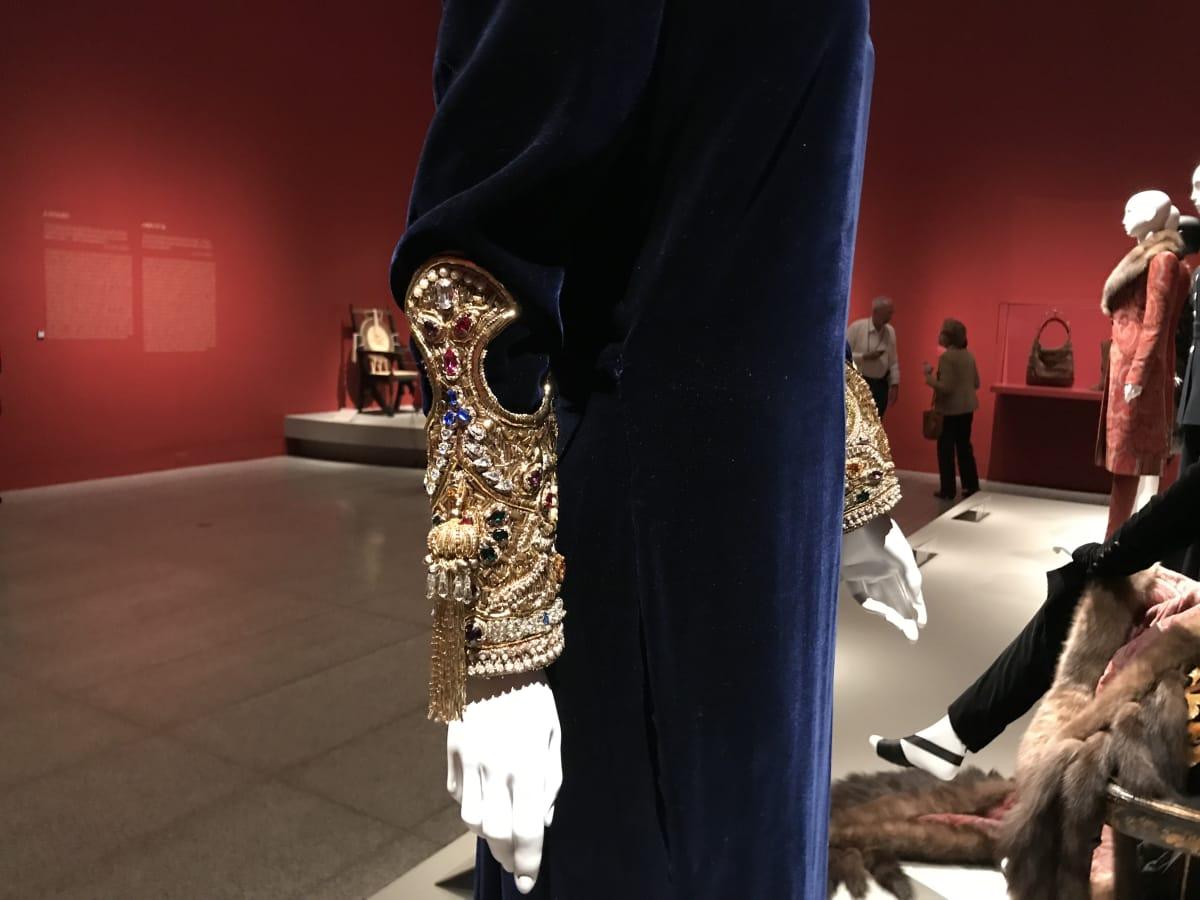 Detail of Oscar de la Rental gown worn by Sandra di Portanova