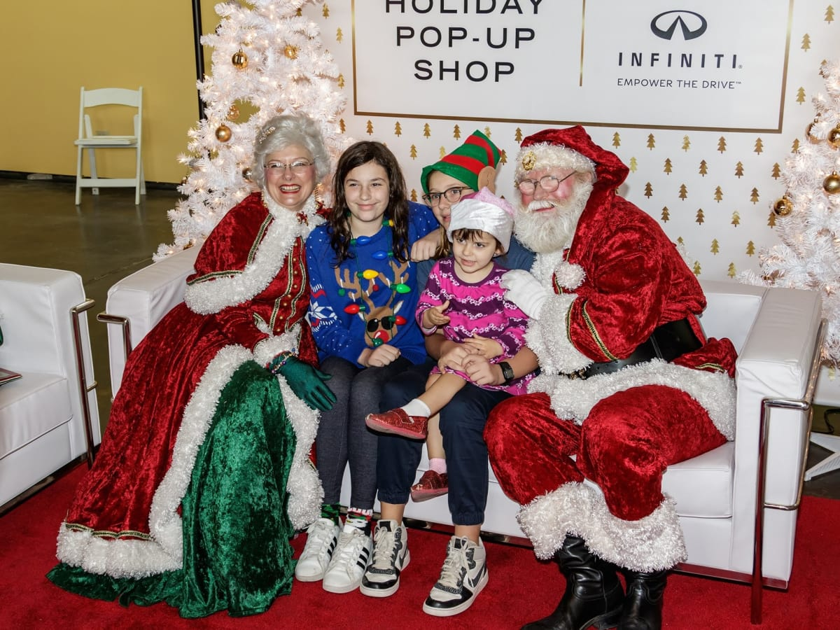 Santa pictures, CultureMap Holiday Pop-up Shop 2017