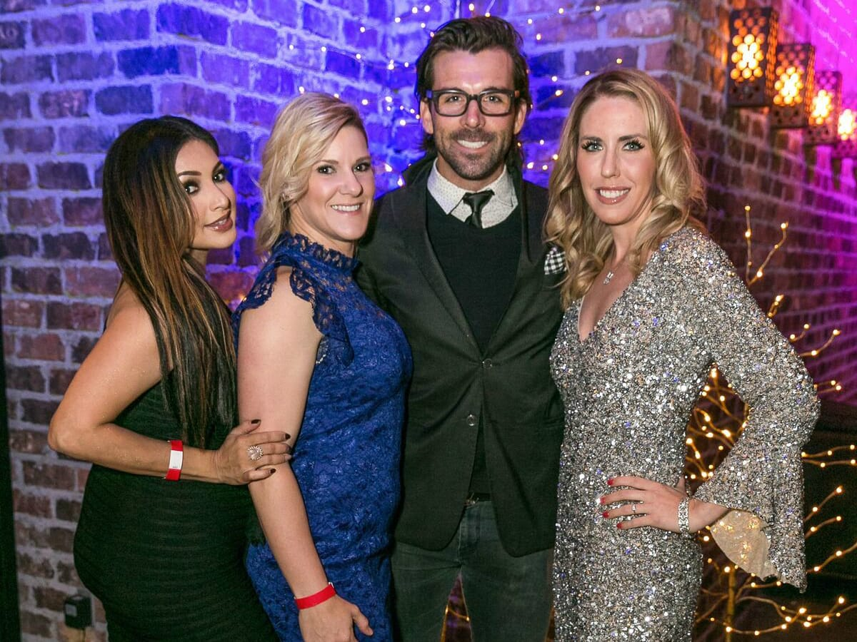 Holiday Soiree - party pic - Patel - hosts
