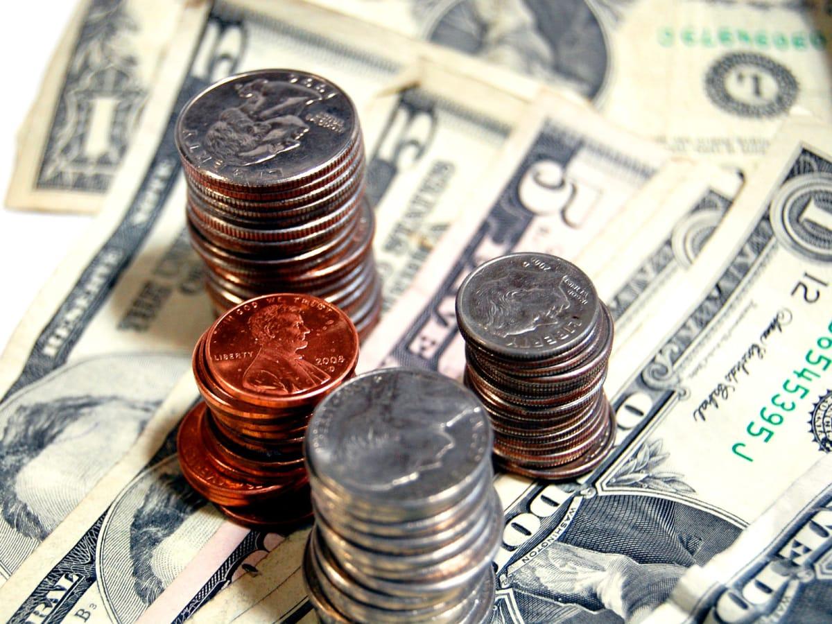 tax refund_money_penny_nickel_dime