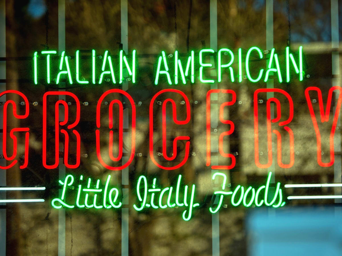 Italian American Grocery Heights external sign