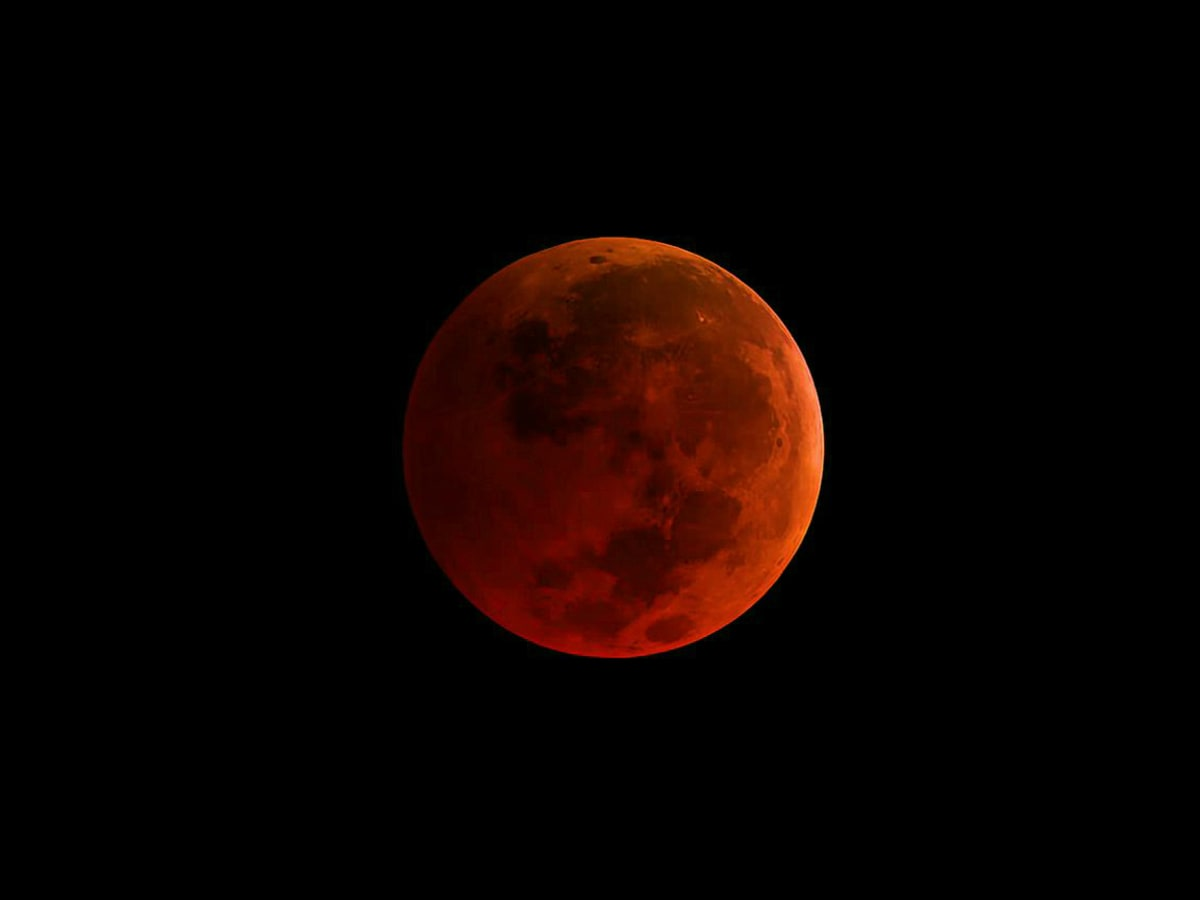 NASA Super blood new moon Supermoon