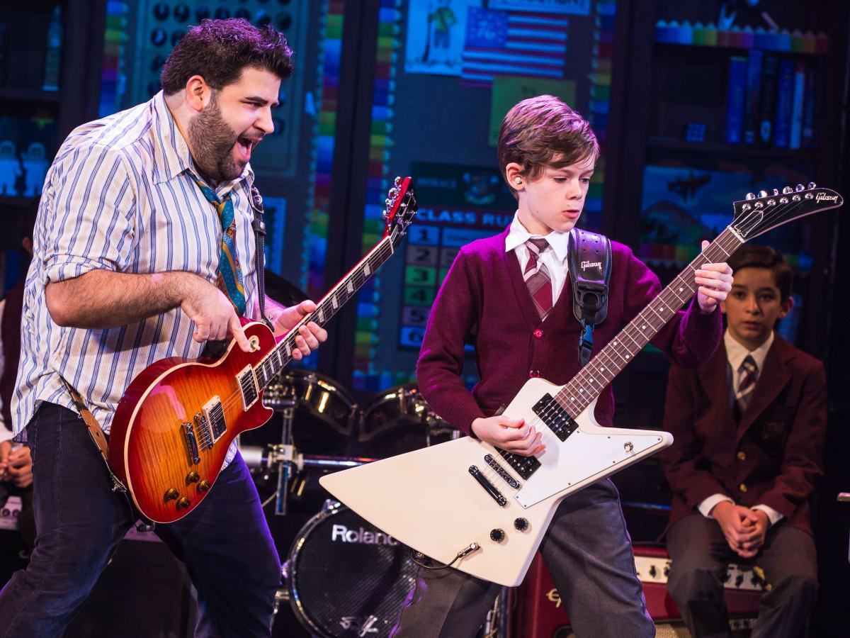 School of Rock Rob Colletti and Phoenix Schuman