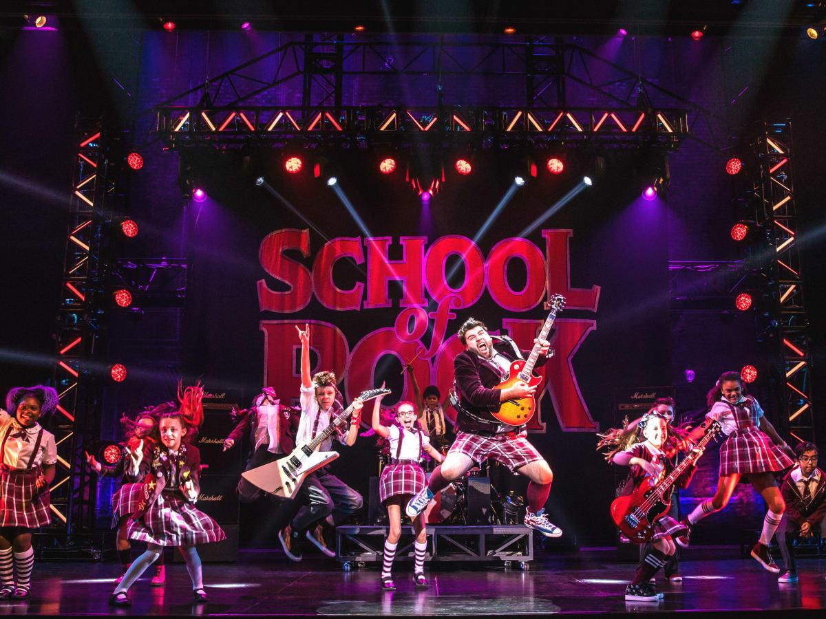 School of Rock cast jumping