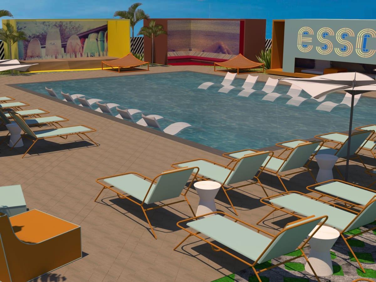 El Segundo Swim Club rendering Gin Braverman