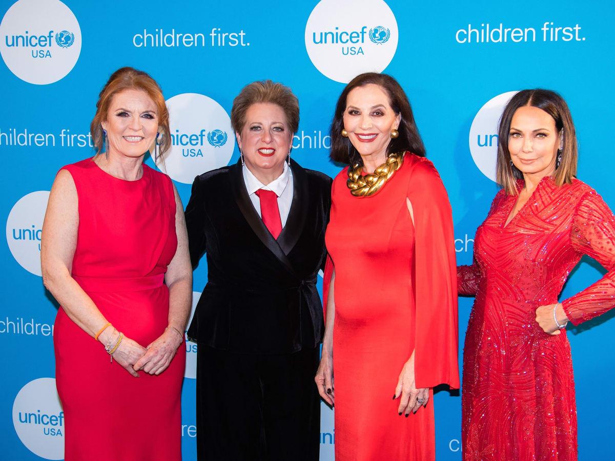 Sarah Duchess of York, Jan Miller, Carol Stern, Moll Anderson, Unicef Gala 2018