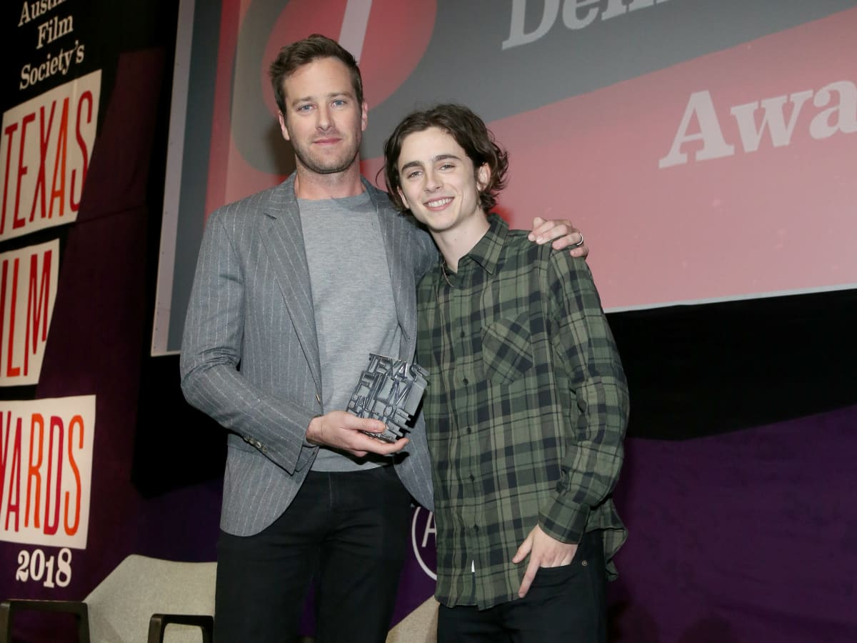 Armie Hammer Timothee Chalamet Texas Film Awards