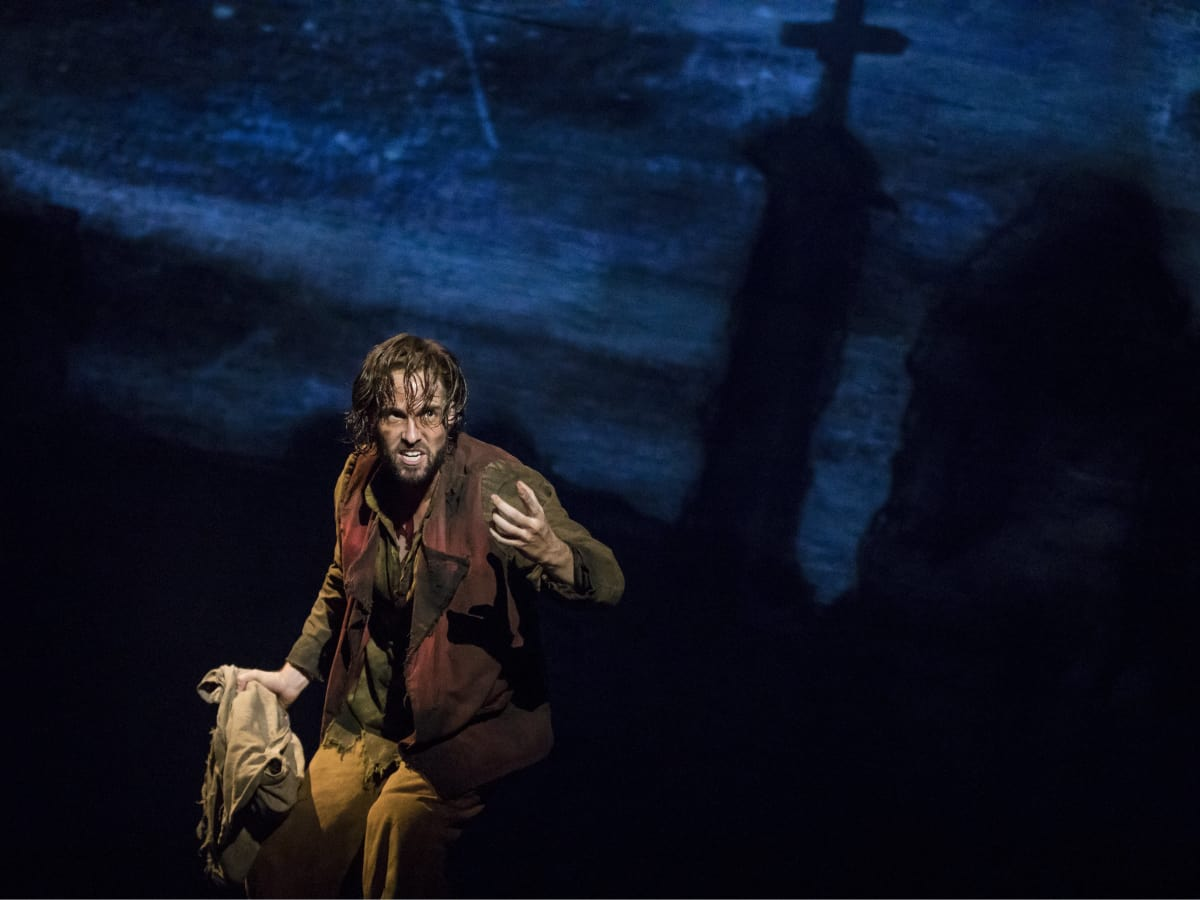 Nick Cartell as Jean Valjean in the new national tour of Les Miserables