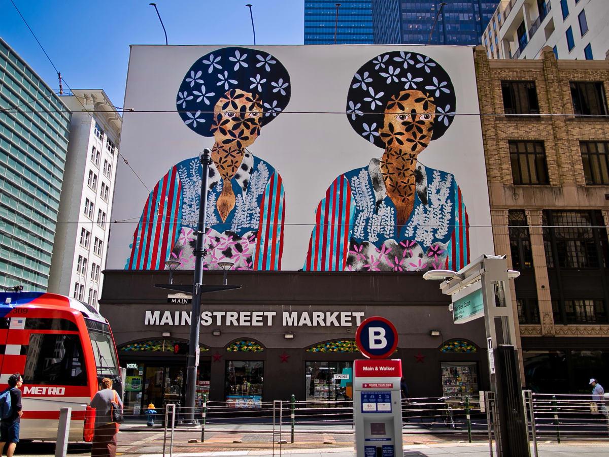 Main St. Sq. Art Blocks: Twins by Jasmine Zelaya